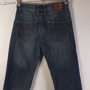 Hollywood Boy's 16 Slim Straight Blue Jeans